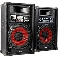Fenton SPA-1200 Actieve Speakerset 1200 Watt 12 Inch met USB, MP3 en Karaoke