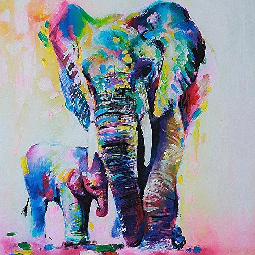Hot Unframed Canvas Print Decor Wall Art Picture Poster Watercolor Elephant OZ