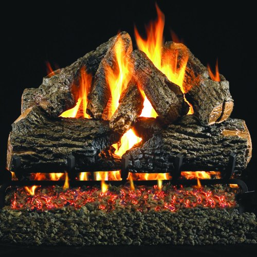 Peterson Real Fyre 30-inch Charred Oak Gas Log Set With Vented Propane Ansi Certified G46 Burner - Manual Safety Pilot ()