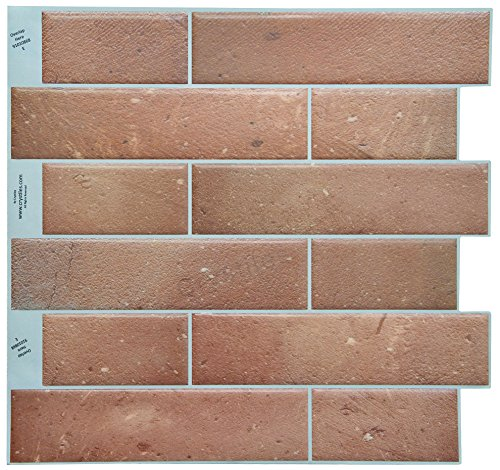Crystiles Peel and Stick Adhesive DIY Backsplash Tile Stick-on Vinyl Wall Tile, -