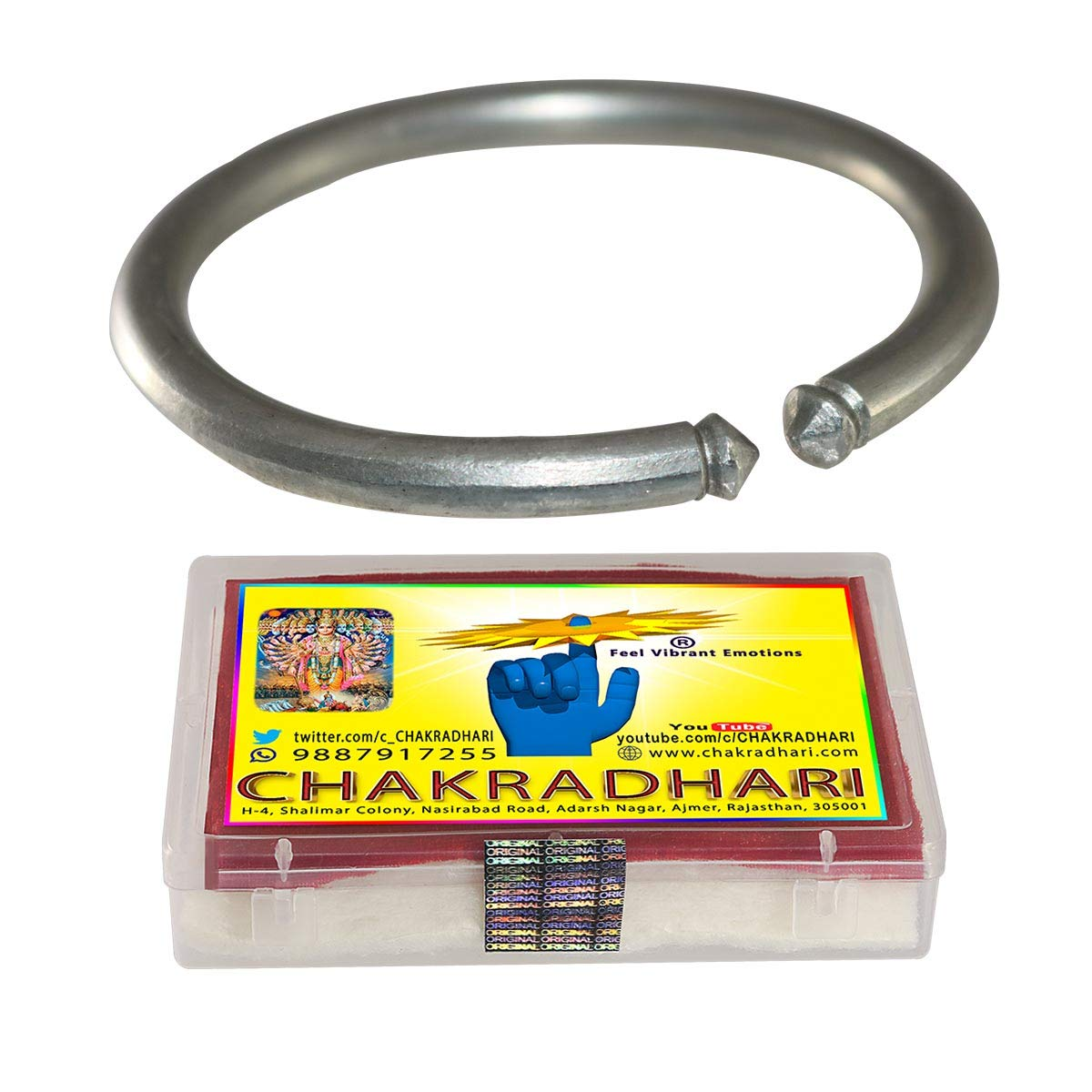 CHAKRADHARI Women's Astrological Benefits Ranga Kada Bangle (White, Free Size)