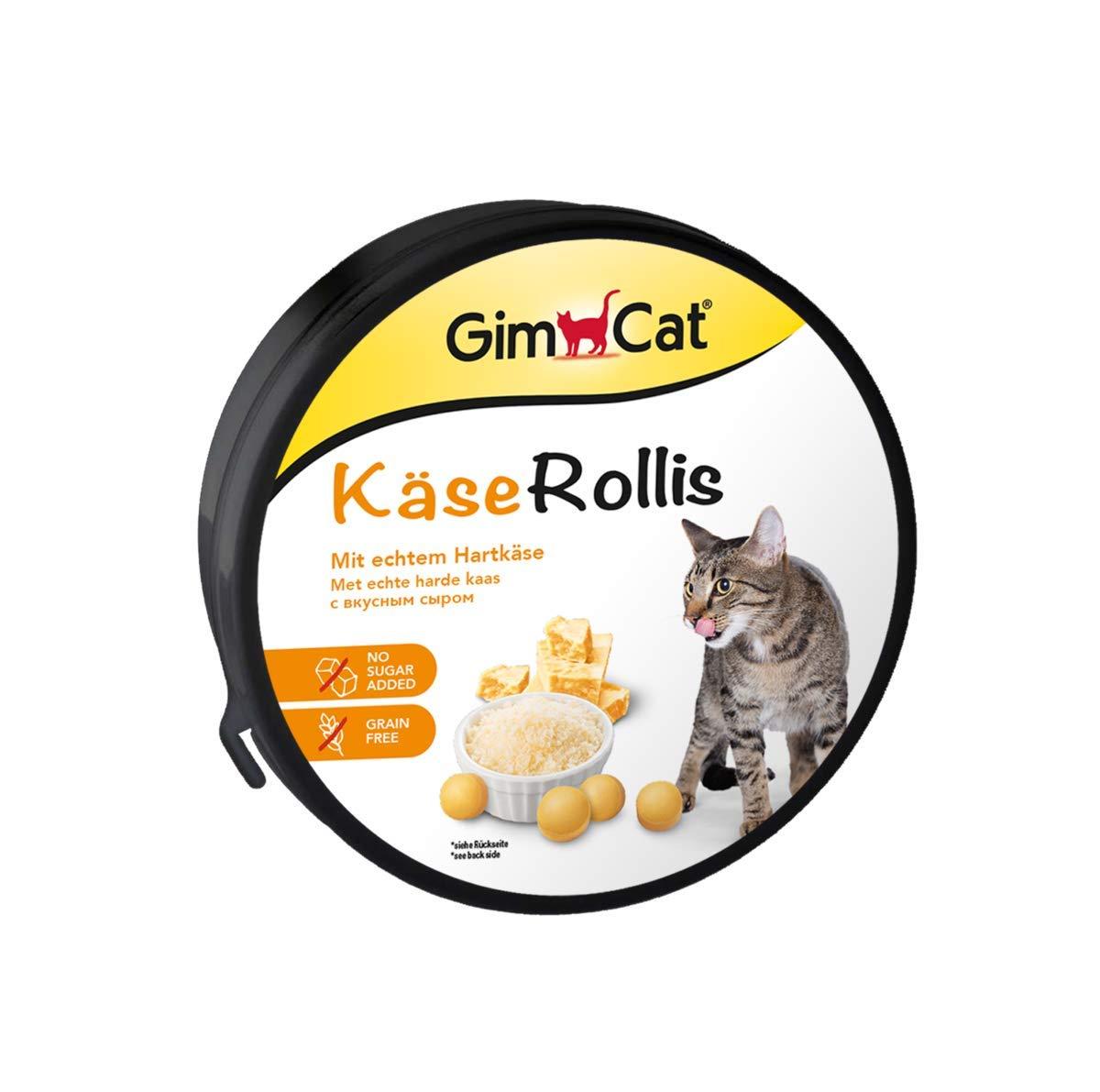 GimCat circulitos de queso , Aperitivo para gatos rico en vitaminas, con auténtico queso de pasta prensada , 1 ración (1 x 200 g): Amazon.es: Productos para ...