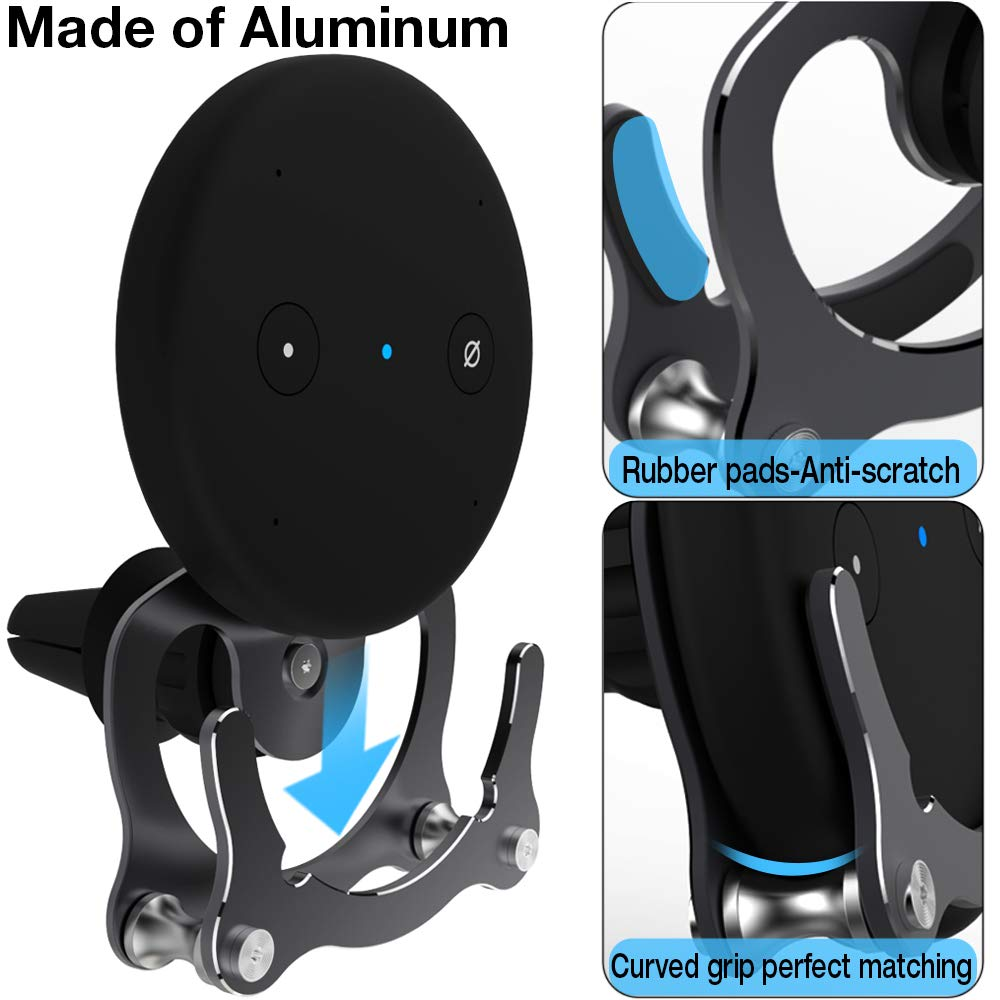 Aluminum Simple Design Wall Hanger Brackets for Space Saving in Car//Home Installation Anywhere Auto Car Air Vent Mount for Echo Input, Wall Mount Holder Compatible with Echo Input