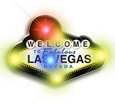 WELCOME TO FABULOUS LAS VEGAS NEVADA FLASHING LIGHT PIN GREAT FOR COLLECTION!