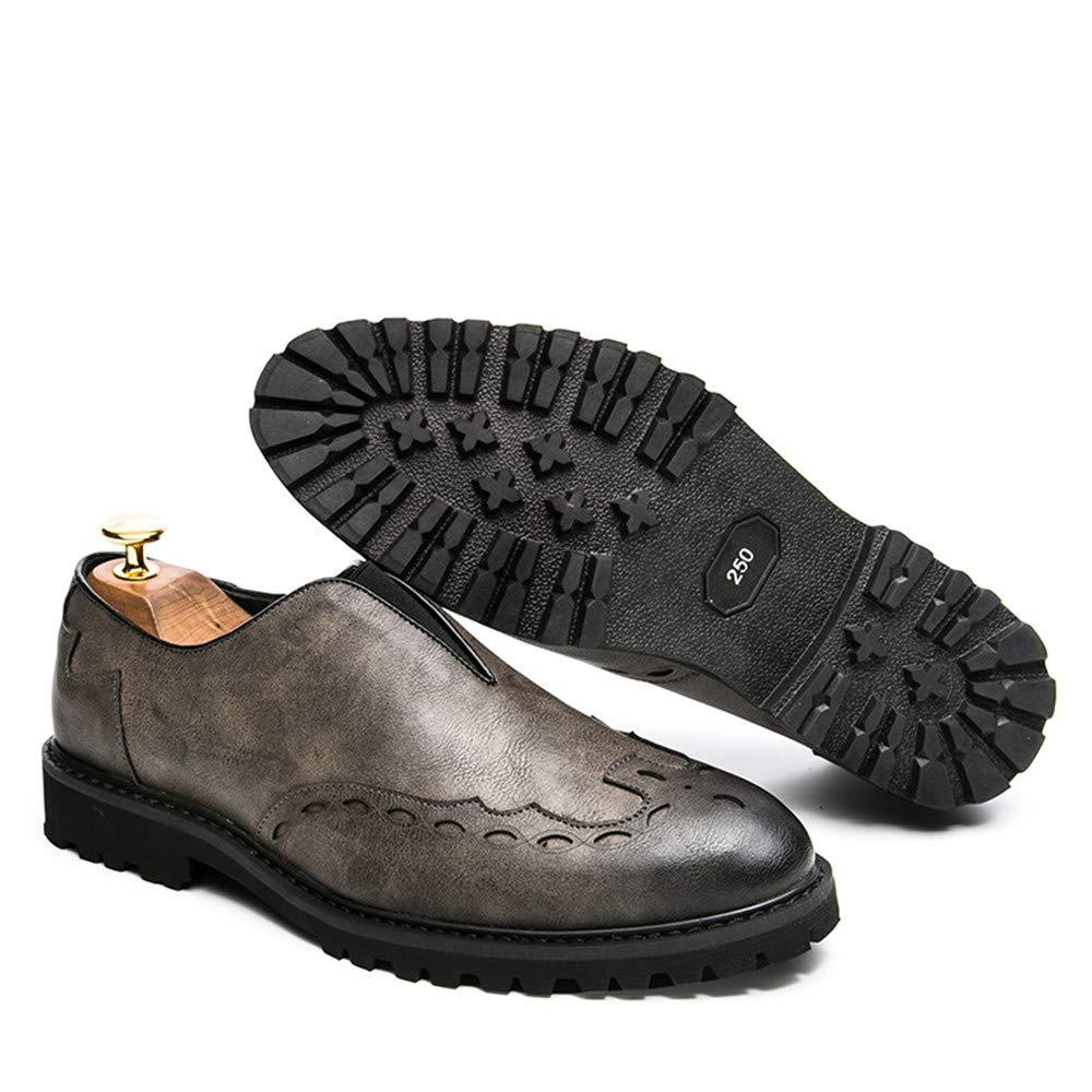 Xujw-schuhe, 2018 Schuhe Herren Herrenmode Oxford Britisch Modeklassiker Komfortable Home Brogue Schuhe Für Walking, Home Komfortable Living und Company (Farbe : Gelb, Größe : 42 EU) Grau 049ff3