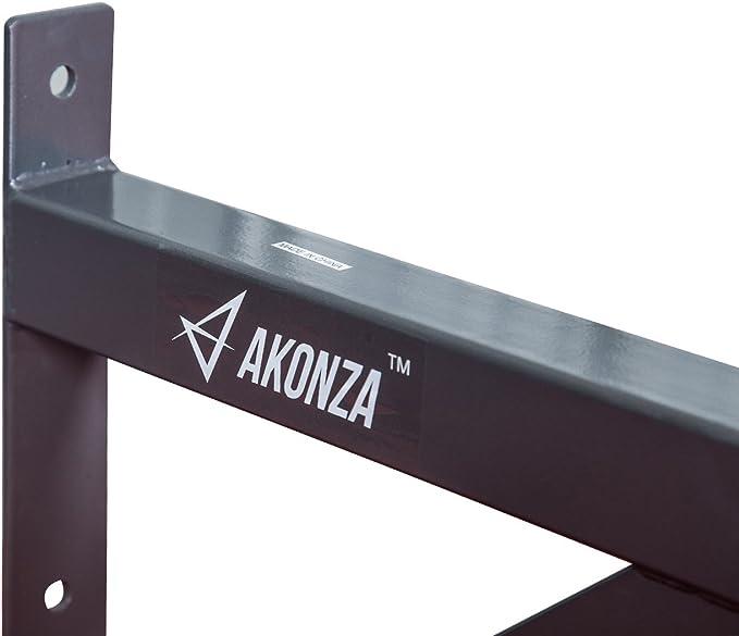 Akonza Fitness - Barra de dominadas para Montar en la Pared con Agarre Múltiple para Entrenamiento de Gimnasio en casa