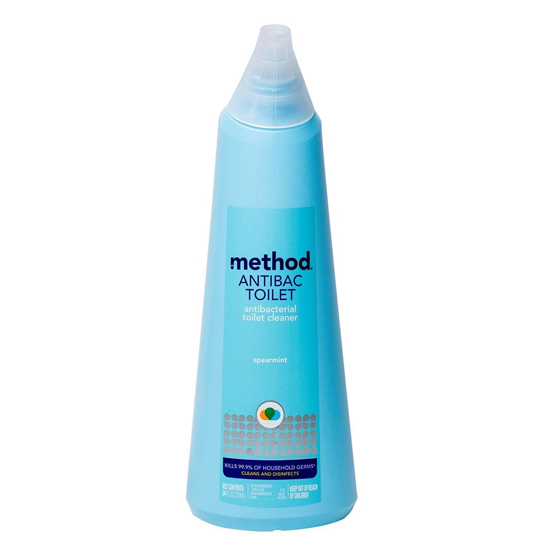 Method Antibacterial Toilet Bowl Cleaner, Spearmint - 24 Fl Oz (Pack of 2)