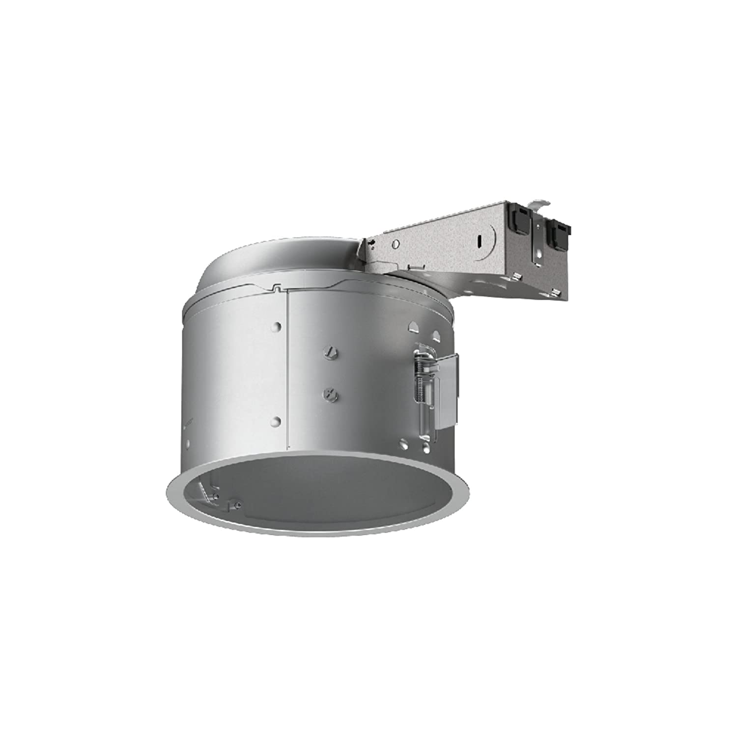 """HALO E27RICAT E26 Series Recessed Lighting Shallow Remodel Insulation Contact Rated Air-Tite Housing, 6"""", Aluminum"""