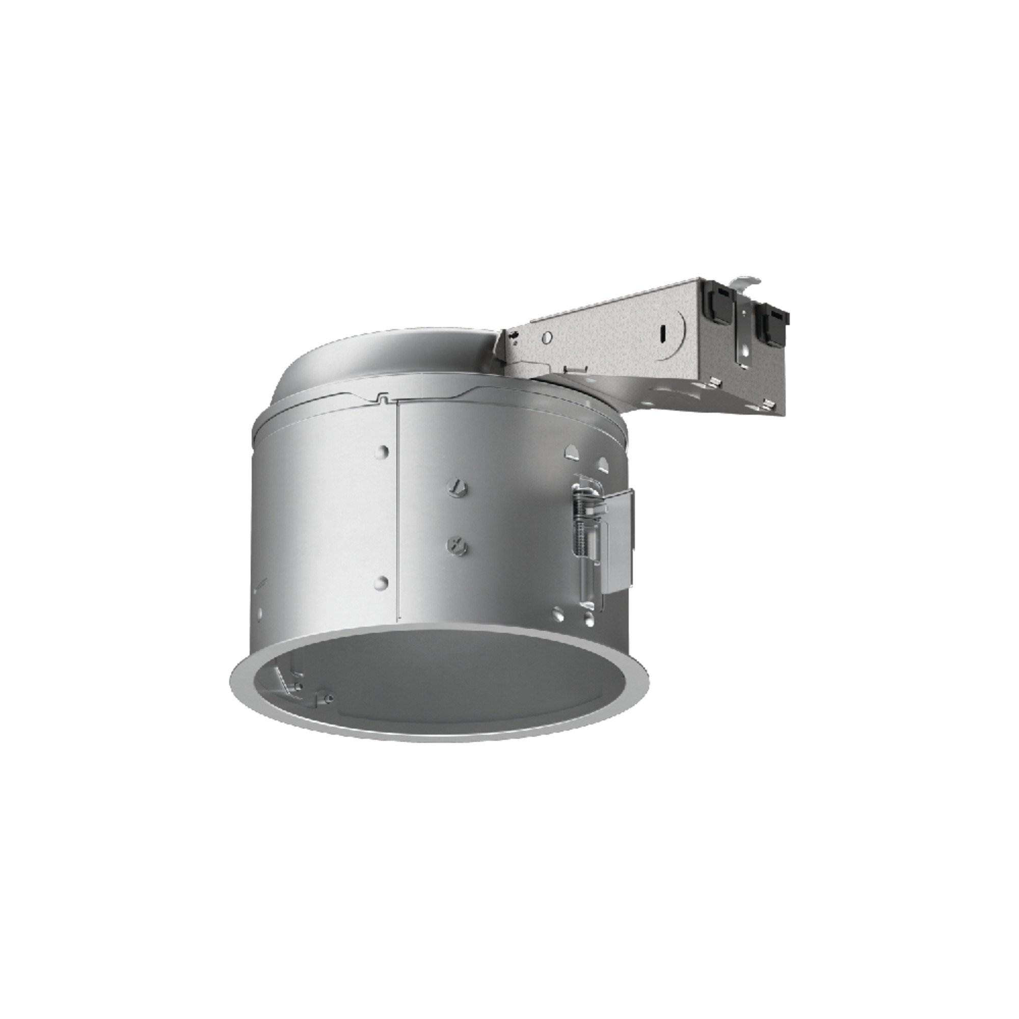 Halo E27RICAT E26 Series Recessed Lighting Shallow Remodel Insulation Contact Rated Air-Tite Housing, 6'', Aluminum