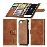 Aiwe Wallet Case Compatible for iPhone 7 Plus – 8 Plus Leather Case Magnetic Detachable Case [15 Slots] 7Plus 8Plus (5.5 inch) Card Holders Luxury Flip Phone Case for Men Women (Brown) For Sale