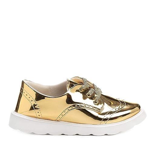 e54ba12b32 Sapato Klassipé Metalizado Infantil  Amazon.com.br  Amazon Moda