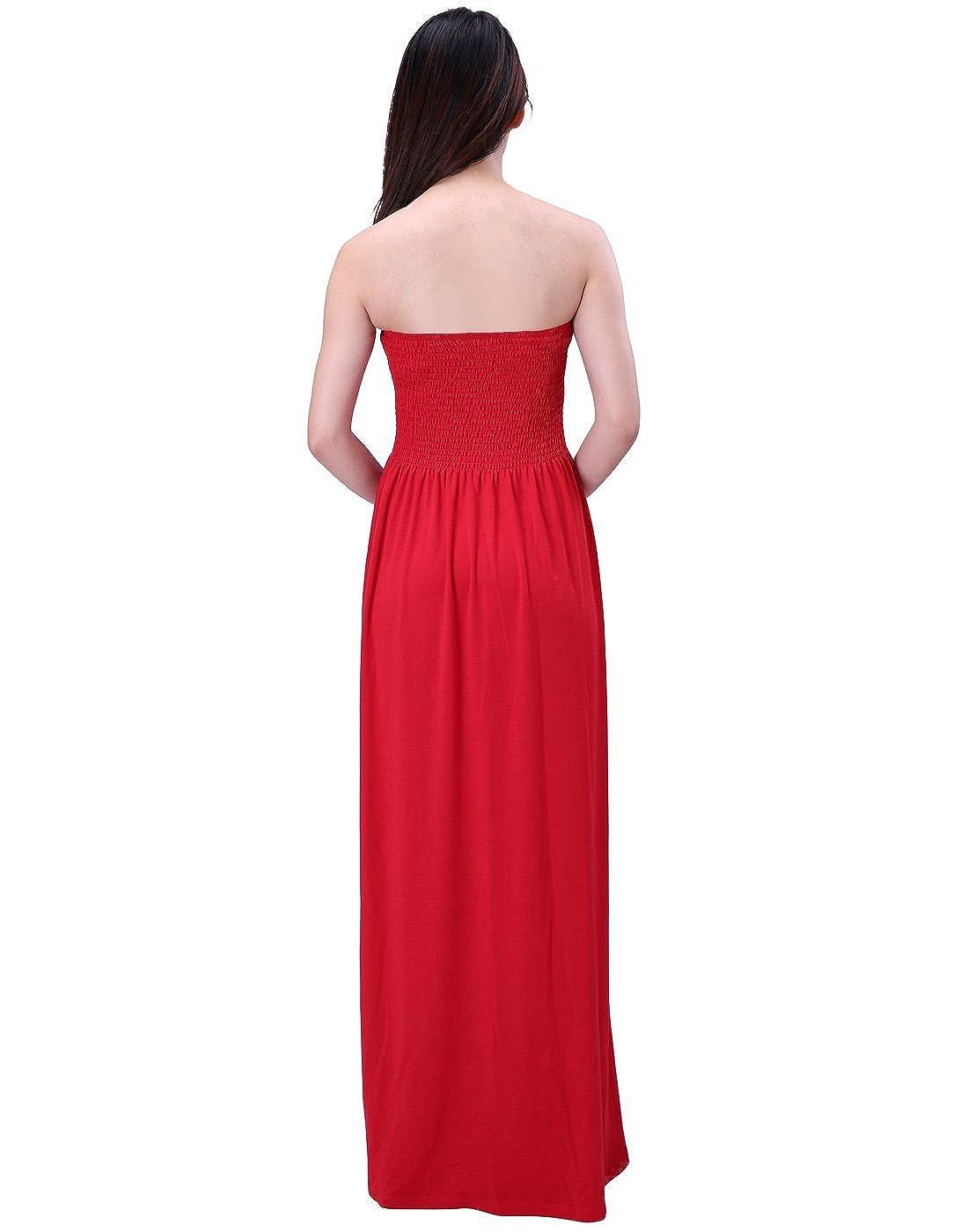 1b068bf474 HDE Women's Strapless Maxi Dress Plus Size Tube Top Long Skirt Sundress  Cover Up larger image