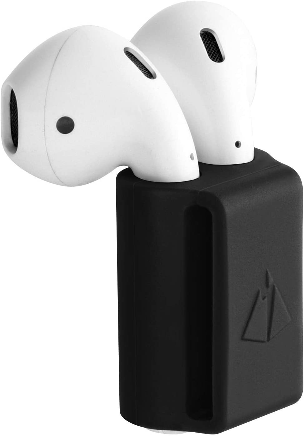AirPods Holder Watch Strap Portable Anti-Lost Silicone Carrying Case for Apple AirPods (Black)