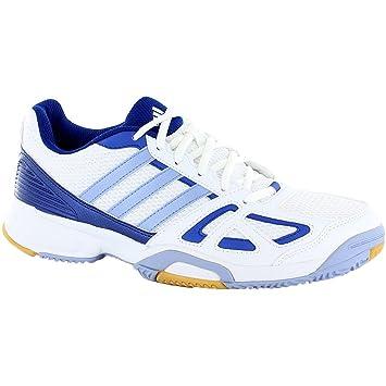05ba3fcaca8d adidas Women s Indoor Football Boots Trainers Speedcourt 6 W White Blue  Q21744