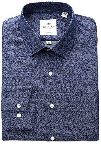 ben-sherman-mens-paisley-printed-twill-spread-collar-dress-shirt-navy-16-neck-34-35-sleeve