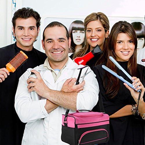 サロンハンドバッグ、大容量サロンハンドバッグ理髪ツールバッグポータブルハサミ櫛ホルダーバッグヘアスタイリングトラベルケースメイクアップバッグ