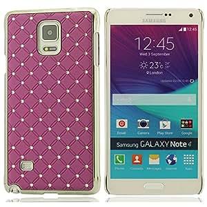 Rejillas Carcasa bling cristal Dura Funda Carcasa case Protector Funda Case Para Samsung Galaxy Note 4 Note IV ( Vario Color )