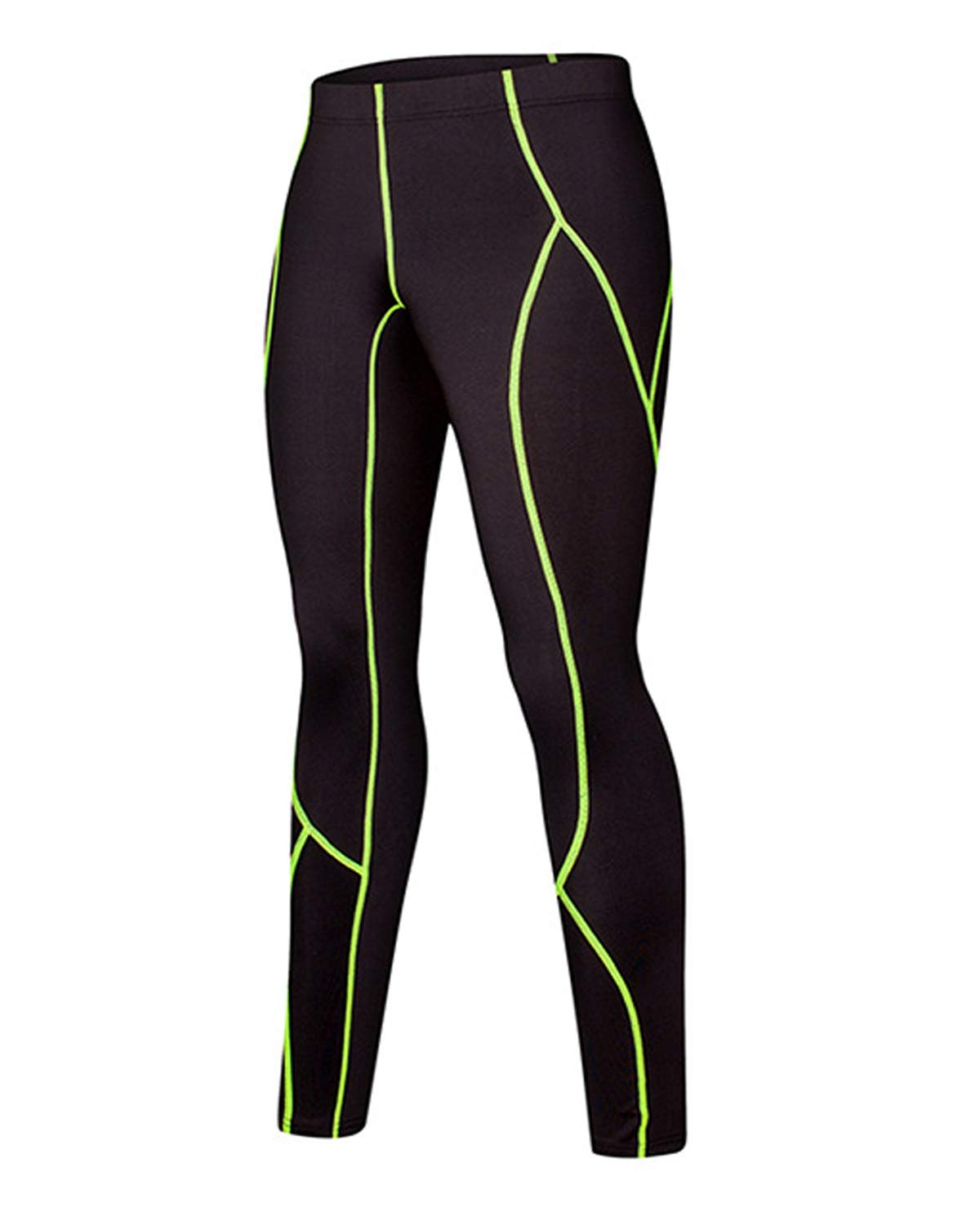 LNJLVI Boys & Girls Compression Pants Sports Base Layer Legging/Tights (A Fleece Lined, 7) by LNJLVI