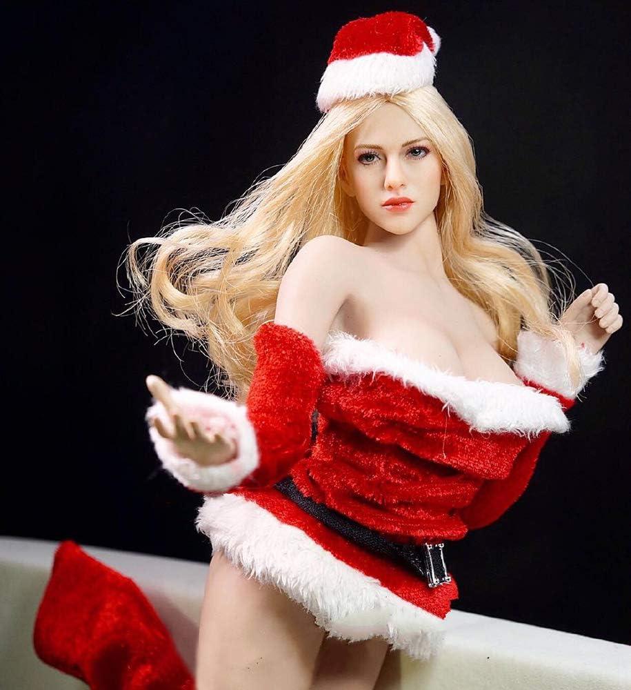 Handmade Santa Costume HiPlay 1//6 Scale Female Figure Doll Clothes Christmas Dress for 12 Action Figure Phicen,TBLeague DC001