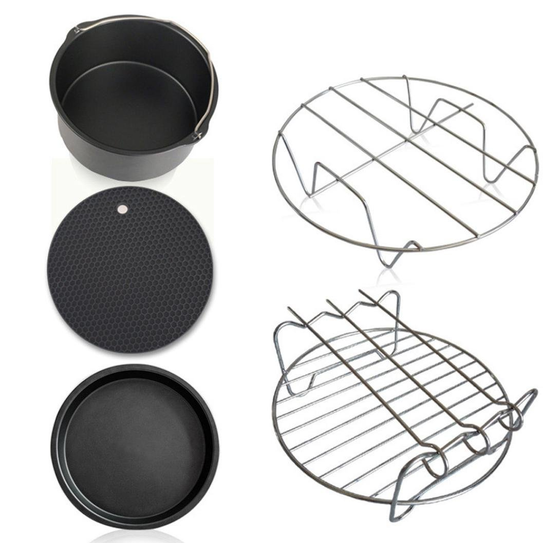 E-SCENERY Air Fryer Accessories for Cozyna, Philips, Gowise and Power Air Fryers, Set of 5, Fit all 3.7QT - 5.3QT - 5.8QT