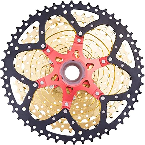 Wenhu 11S 50T SL Oro Negro MTB Cassette Bicicleta de montaña ...