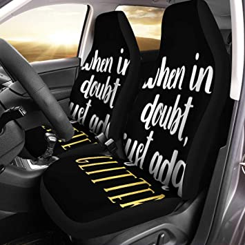 Amazon Com Semtomn Car Seat Covers Girly Girl Cute When In Doubt