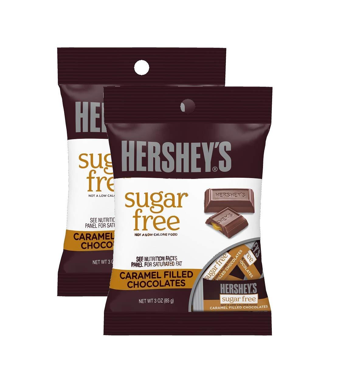Sugar Free Hershey's Caramel Filled Chocolates, 3oz - Pack of 2