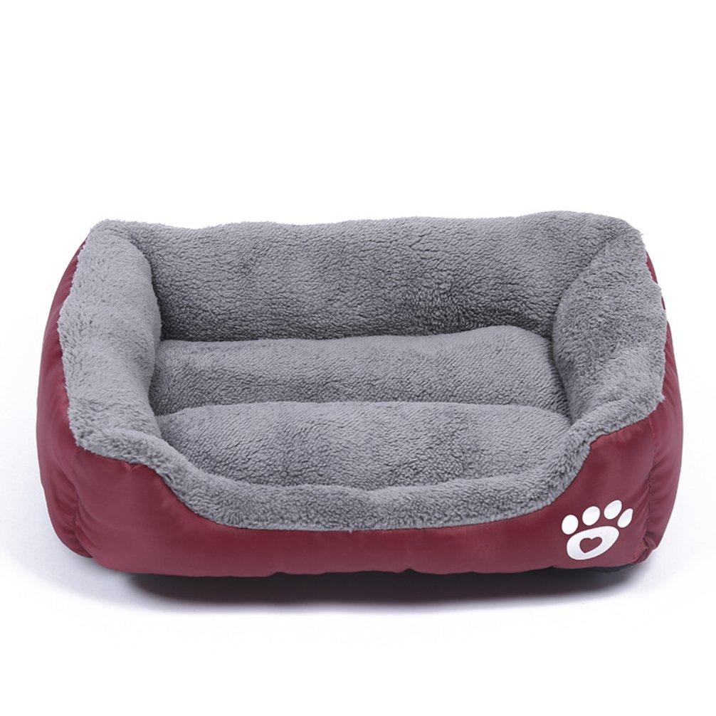 LA VIE Cama Cálida para Mascotas Sofá Cama Nido Suave y Acogedor para Gatos Perros Pet Dog Bed M en Roja: Amazon.es: Productos para mascotas