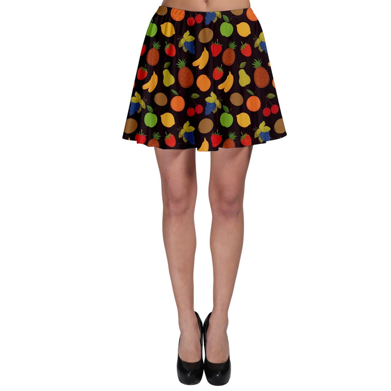 CowCow Womens Colorful Pattern Fruit Skater Skirt