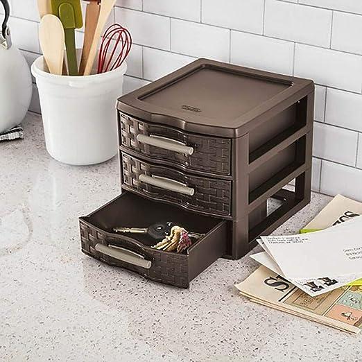 Sterilite Medium Weave Craft Office Supplies 3 Drawer Storage Organizer 8 Pack