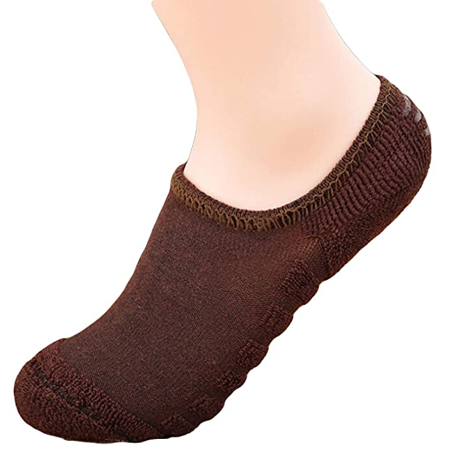 e86552f0bcb GRAPPLE DEALS Men s and Women s Woollen Warmed Solid Casual Towel Bottom  with Anti Slip Ankle Socks (Random Colours