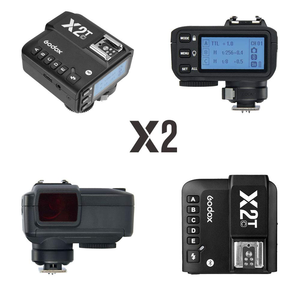 Godox X2T-C TTL Wireless Flash Trigger Transmitter for Canon Bluetooth Connection Supports iOS/Android App Contoller 1/8000s HSS TCM Function 5 Separate Group Buttons X1T Upgrade Version by Godox (Image #2)