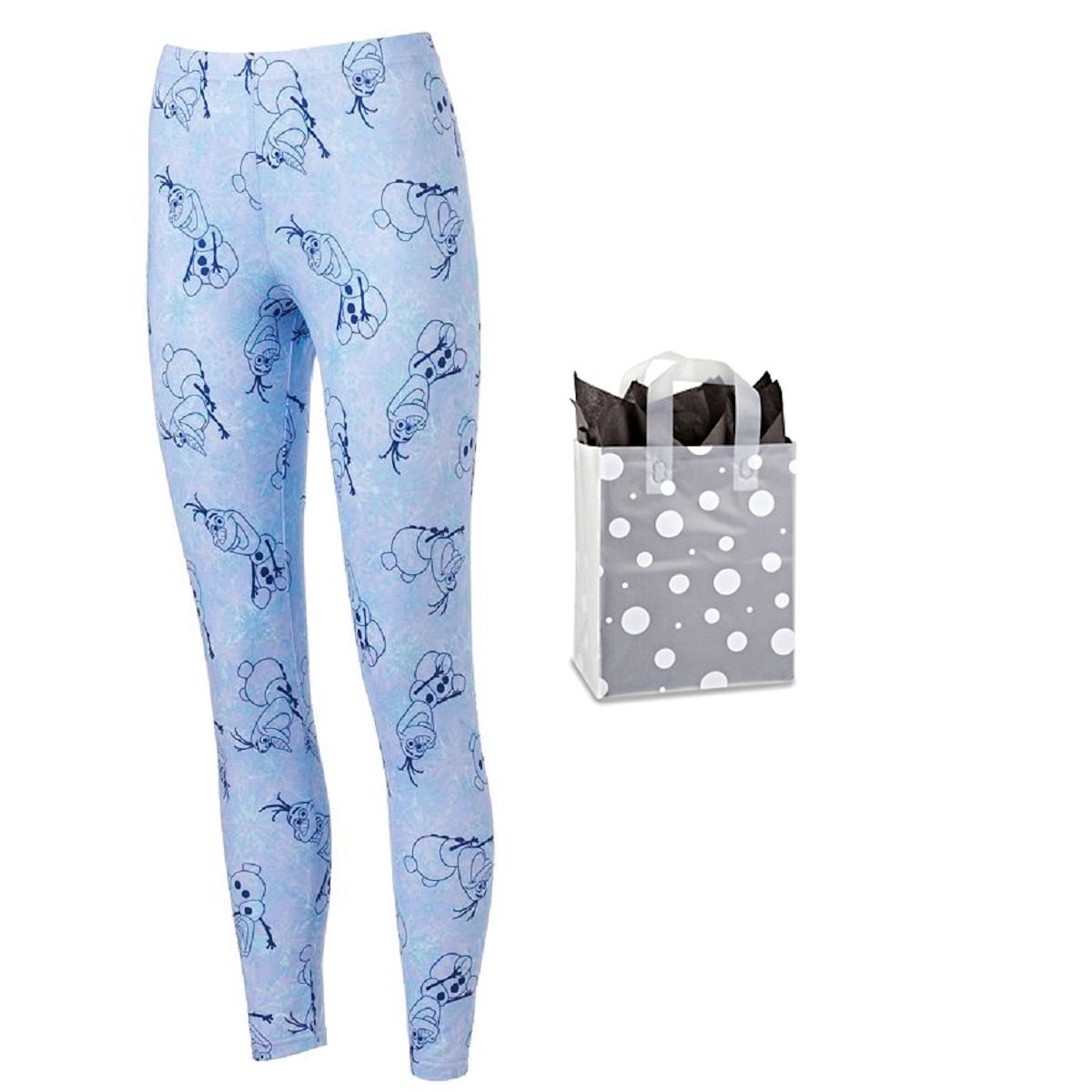 Disney Womens' Juniors Frozen Olaf Leggings & Bag - 2 Piece Gift Set (Large)