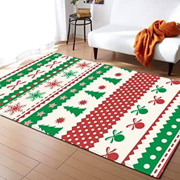 Amazon Com Non Slip Christmas Rugs Dining Room Carpet Bedroom