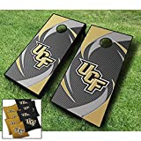 UCF Central Florida Knights ''Swoosh'' Themed CORNHOLE WRAPS BOARD SET Bean Bag Toss + 8 ACA Regulation Bags ~ MADE in the USA