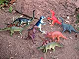 Educational Dinosaur Toys 8 pack - 6''- 9'' realistic toy dinosaur figures for cool kids and toddler education! Great gift set and party favors!