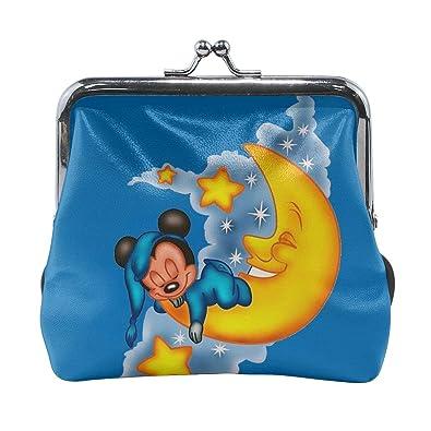 Monedero de Mickey Mouse con cierre de hebilla, monedero ...