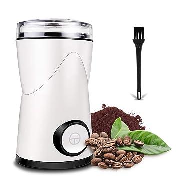 morpilot Molinillo de Café Eléctrico, Molinillo de Especias,Capacidad 70g 150w Molinillo de Semillas con Hoja de Acero Inoxidable,Molienda Rápida para ...