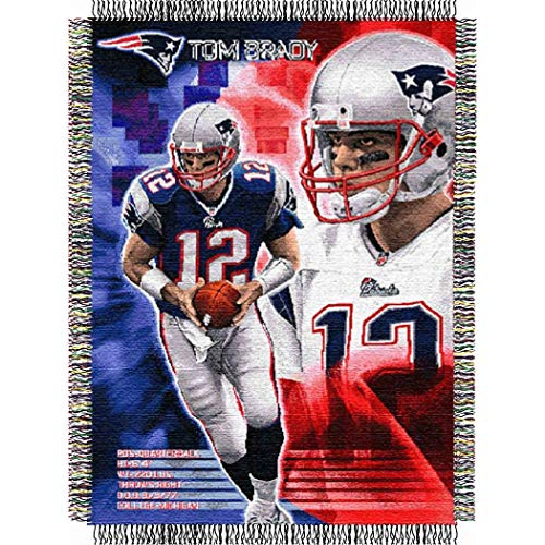 New Tapestry England Patriots (AW NFL Superbowl LI Champion Tom Brady New England Patriots Throw Blanket, NE Patriot Sports Logo, Fan Merchandise, Pats Super Bowl 51 Football Team Spirit Winner, Navy Blue Red Grey White)
