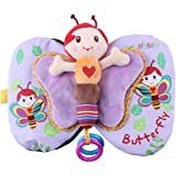 Baby's Soft Cloth Book Developing Soft Safe Anti Tearing Butterfly Honeybee Cloth Book