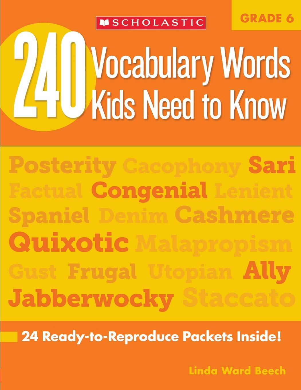 Amazon.com: 240 Vocabulary Words Kids Need to Know: Grade 6: 24  Ready-to-Reproduce Packets Inside! (9780545468664): Linda Beech: Books
