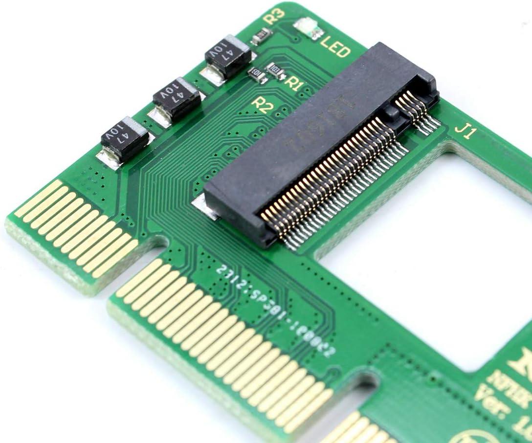 Black JMT NGFF M-Key NVME AHCI SSD to PCI-E 3.0 16x x4 Adapter Converter PCI Express 3.0 X4 X8 X16 to M Key M.2 NVME AHCI SSD Riser Card for XP941 SM951 PM951 A110