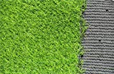 Ez4garden Three-Toned Artificial Grass 3cm Blade Height Natural Lawn Landscape Fake Grass Artificial Anti-wear Turf Tiles Multiple Applications Spring Color Many Sizes Optional