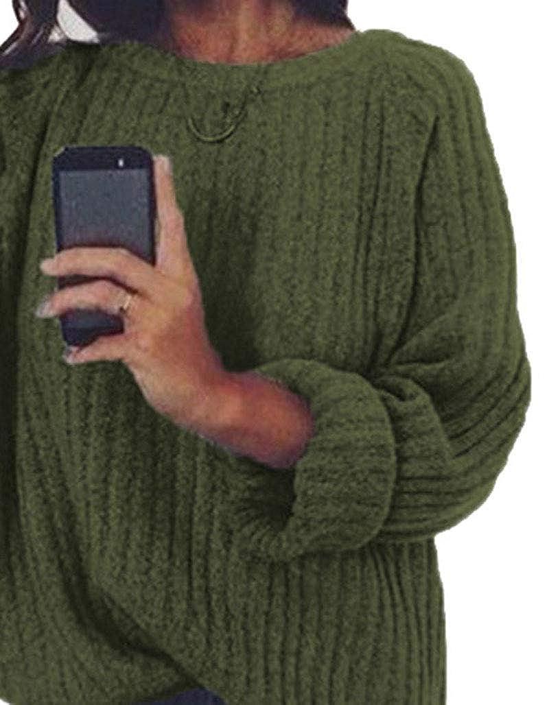 Luiyy Jersey Punto Mujer Invierno Jersey Cuello Alto Camiseta Oversized Manga Larga Tallas Grandes Sueter Basico Suelto Jerseys Camisa Tops Pull-Over Su/éter Mujer Primavera Oto/ño