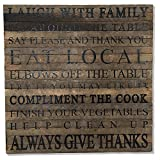 Reclaimed Wood Wall Art - Laugh with family