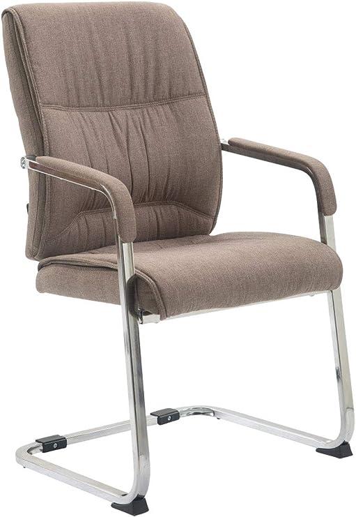 Cantilever decette Noir Structure en acier inoxydable salle à manger Chaise avec accoudoirs