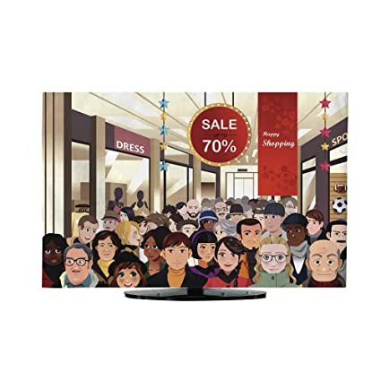 5d49b043bcbd Amazon.com  TV Curtain Cover Holiday Shopping Sale Scene L50 x W52 ...