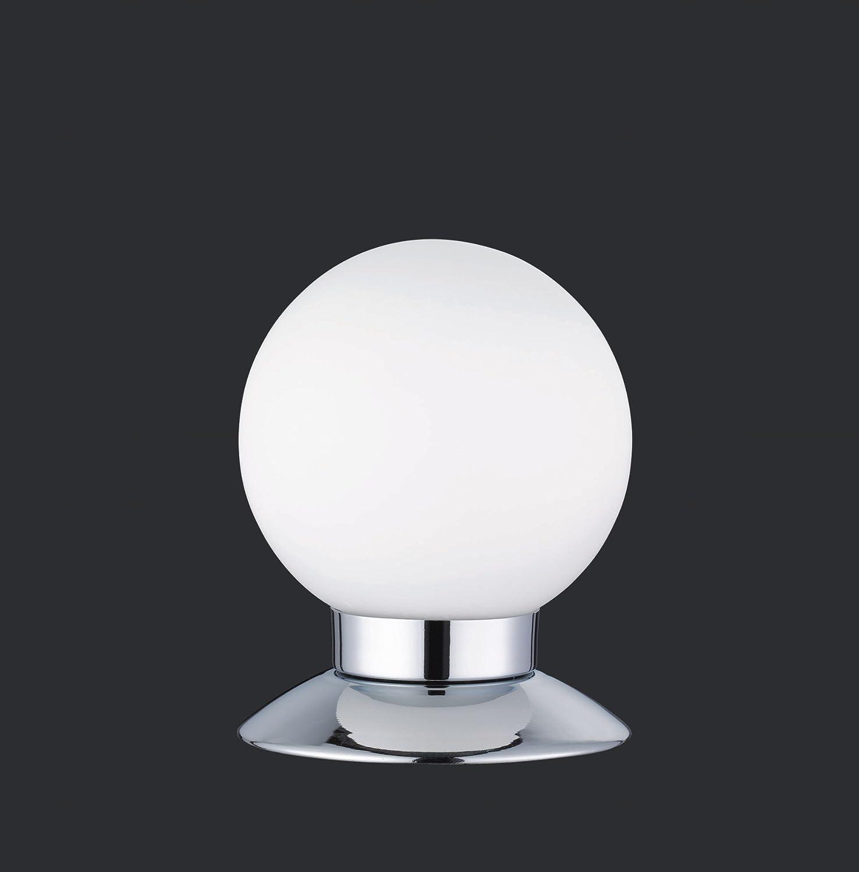 Reality Leuchten R52551906 Princess A+, LED Tischleuchte, 3 Watt, Integriert, Chrom, 4-fach Touch Dimmer, 10 x 10 x 13 cm Chrom