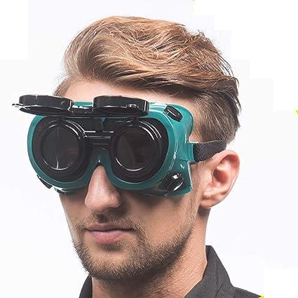 L Gafas De Soldadura De Alta Eficiencia Antideslumbrante Soldador Máscara Especial Flip Gas Soldadura De Arco