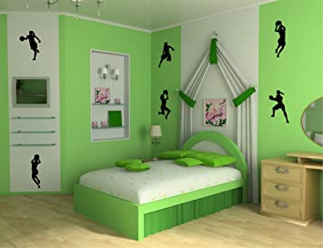 Girls Basketball Player Wall Decal Stickers Decor Graphics